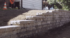 Interlocking Brick Retaining Wall